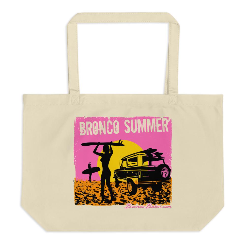 Bronco Summer Large Tote Bag