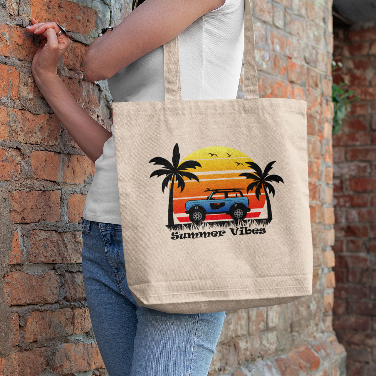 Summer Vibes Eco Tote Bag
