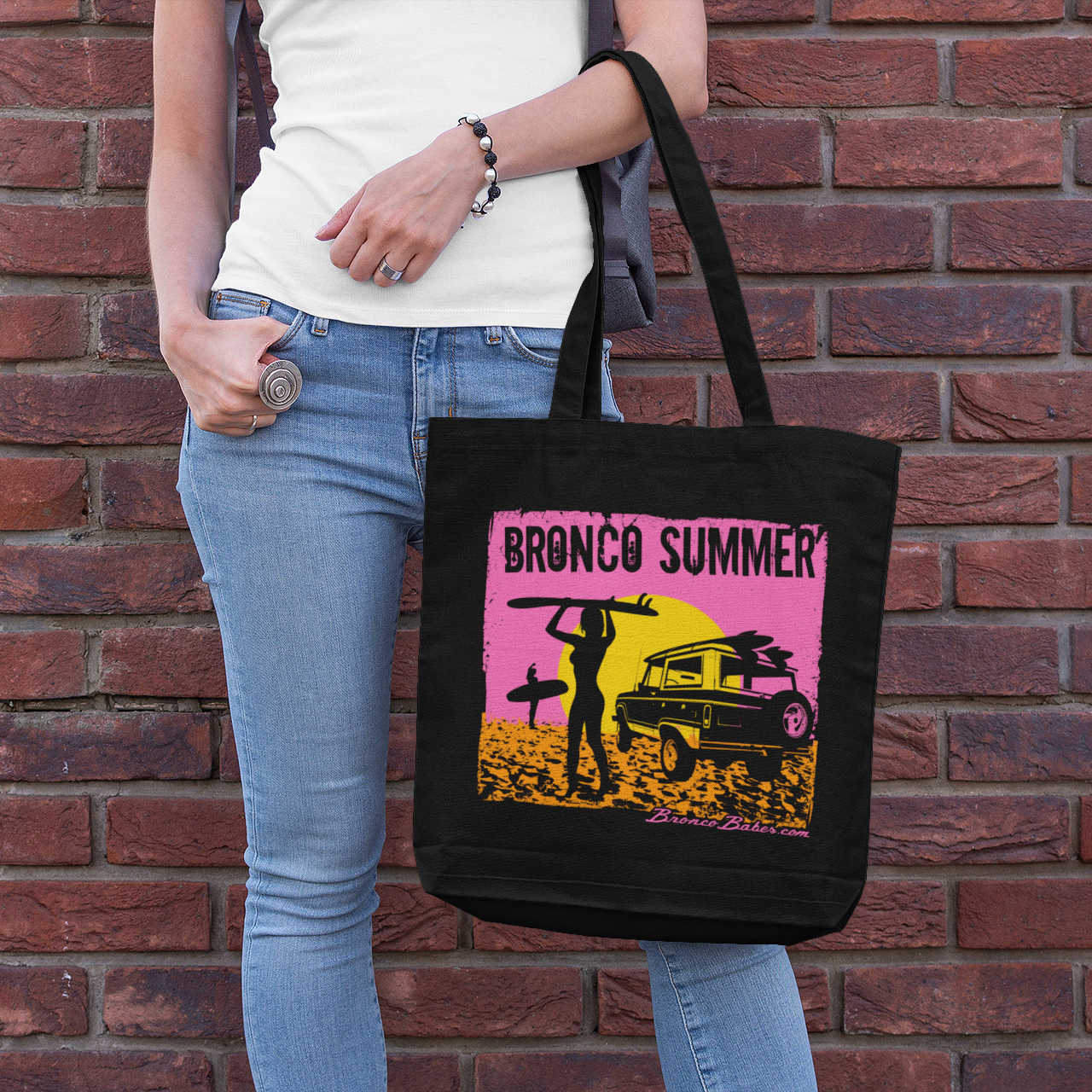 Bronco Summer Tote Bag