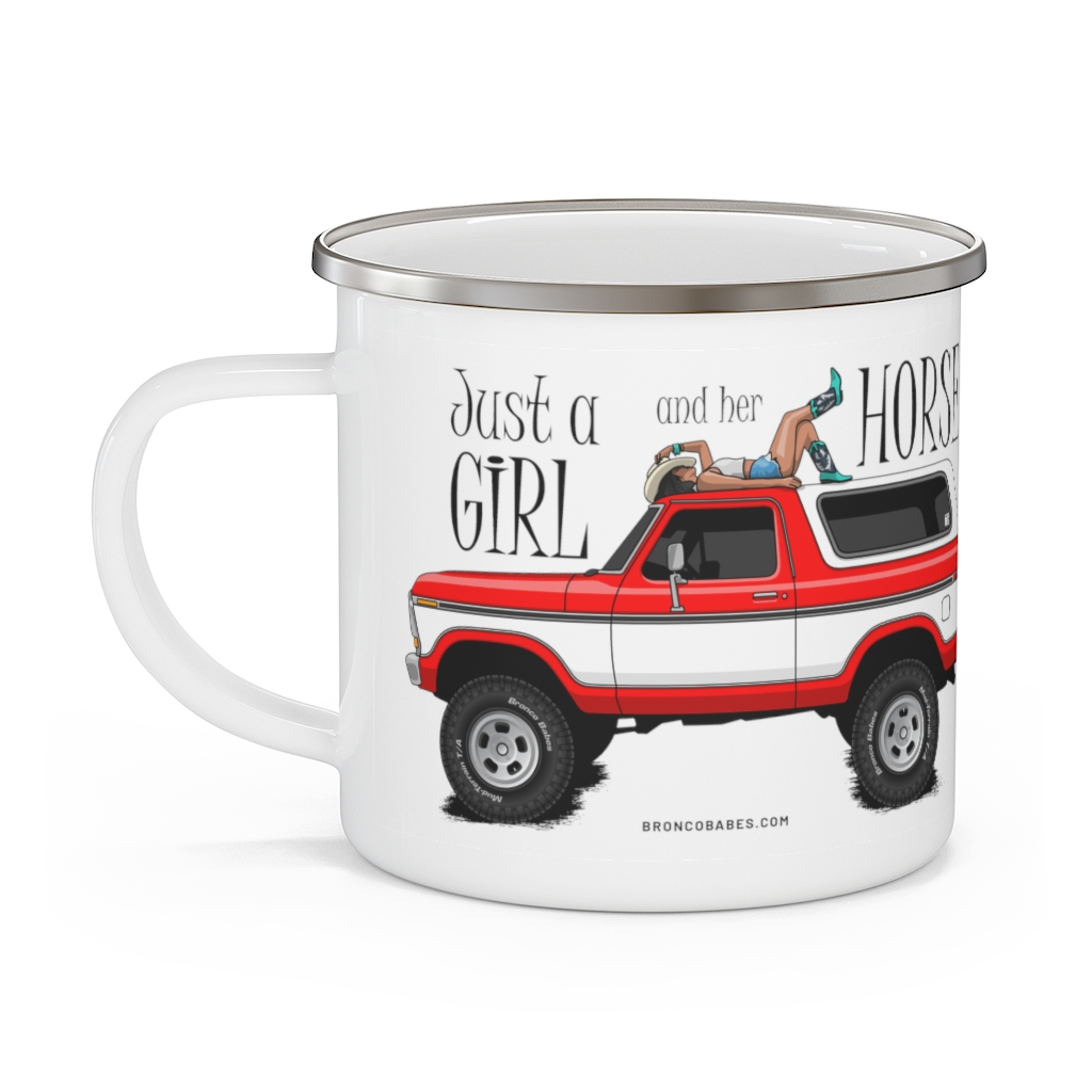 Just A Girl And Her Horse Camp Mug