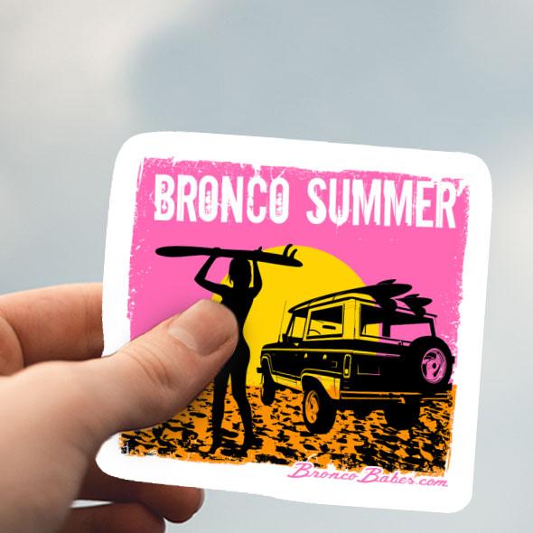 Bronco Summer Sticker – 2.5″ X 2.3″