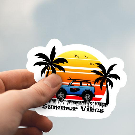 Summer Vibes Sticker – 2.5″ X 2″