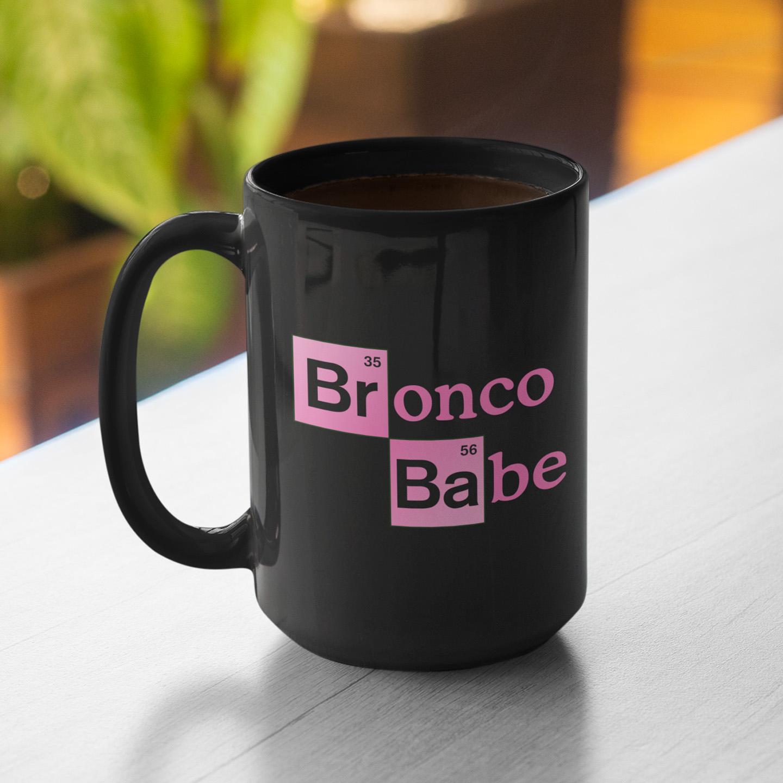 Breaking Bronco Babe Mug 15oz